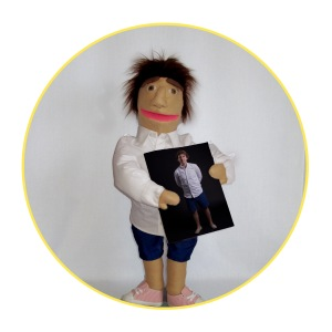 Bespoke Likeness Puppet man in white shirt