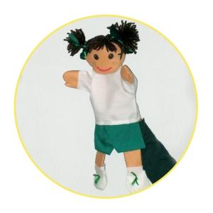 Custom puppet school girl bespoke puppet