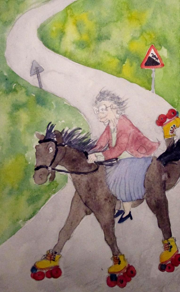 horse on skates 2