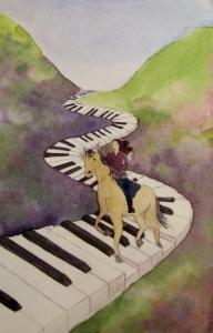 piano horse