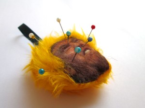 Trump head pin cushion 2